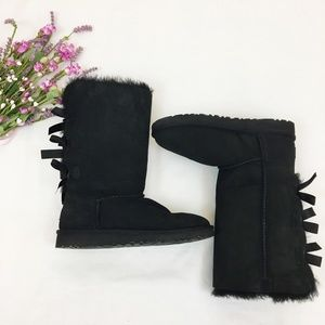 UGG Bailey Bow Black Tall Boots